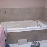 Custom soaker tub